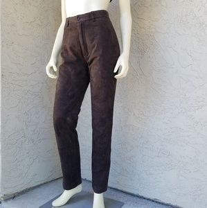 Polo Ralph Lauren High Waisted Suede Skinny Pants